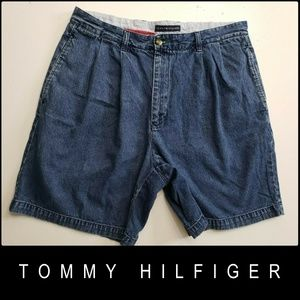 Tommy Hilfiger Denim Pleated Front Cotton Short 36
